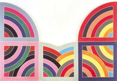 Frank stella river of ponds iii 1971 lines around the for Frank stella peinture
