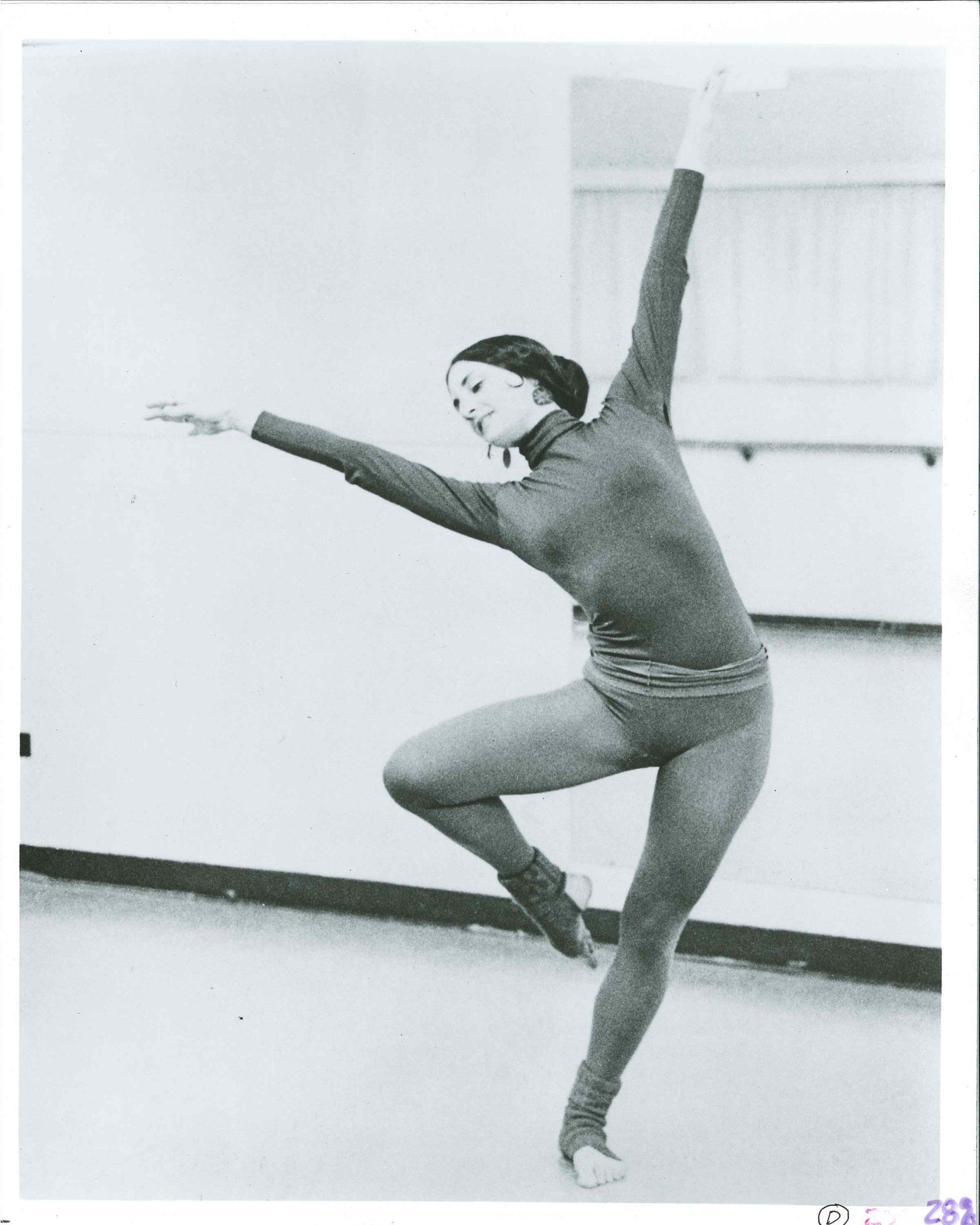 Historical photo of Ellen Bromberg dancing